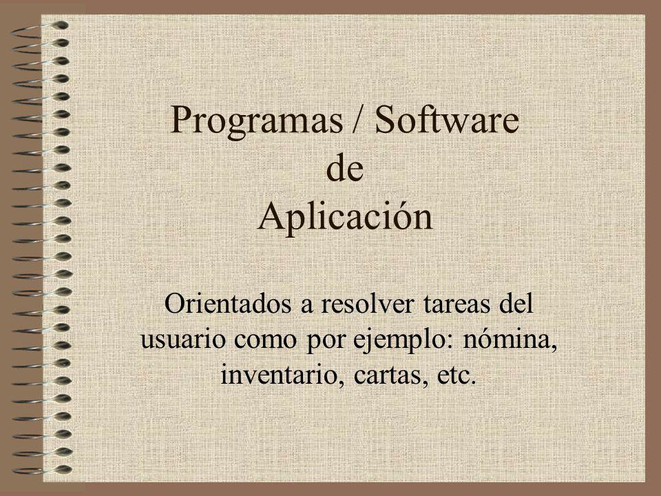 Programas / Software de Aplicación