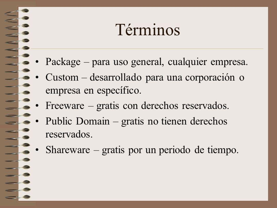 Términos Package – para uso general, cualquier empresa.