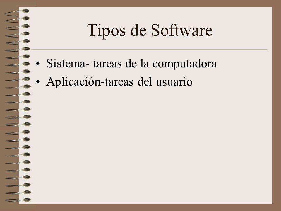 Tipos de Software Sistema- tareas de la computadora