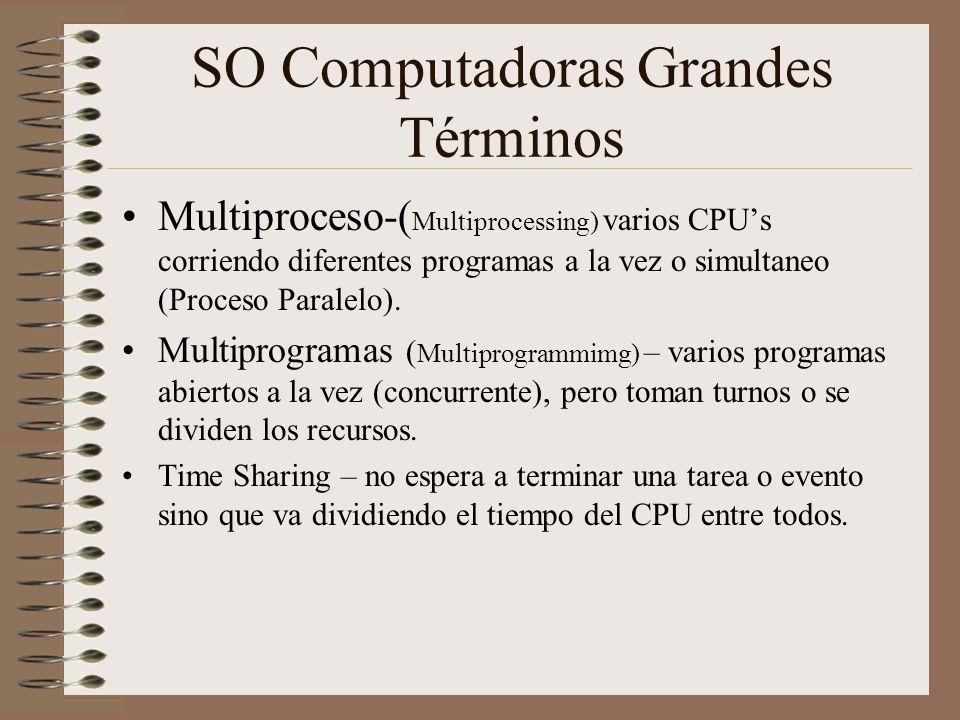 SO Computadoras Grandes Términos