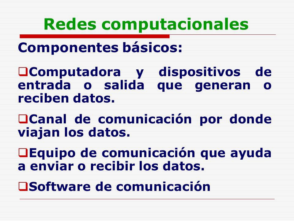 Redes computacionales