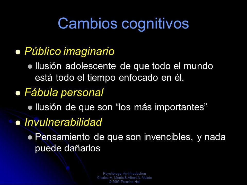 Cambios cognitivos Público imaginario Fábula personal Invulnerabilidad