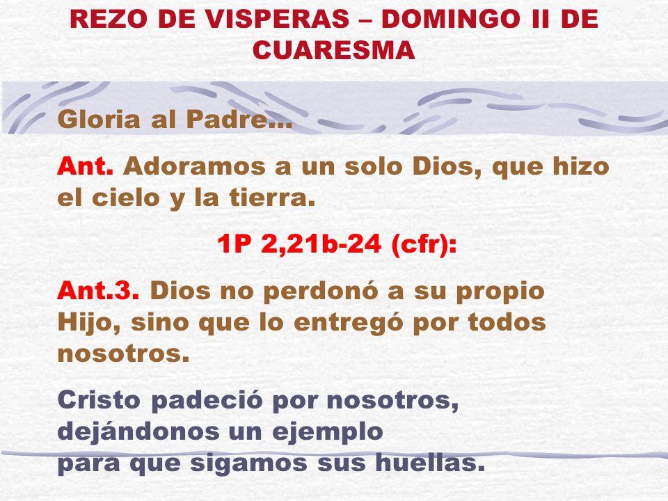 REZO DE VISPERAS – DOMINGO II DE CUARESMA