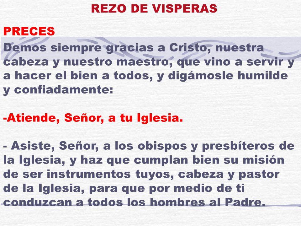 REZO DE VISPERAS PRECES.