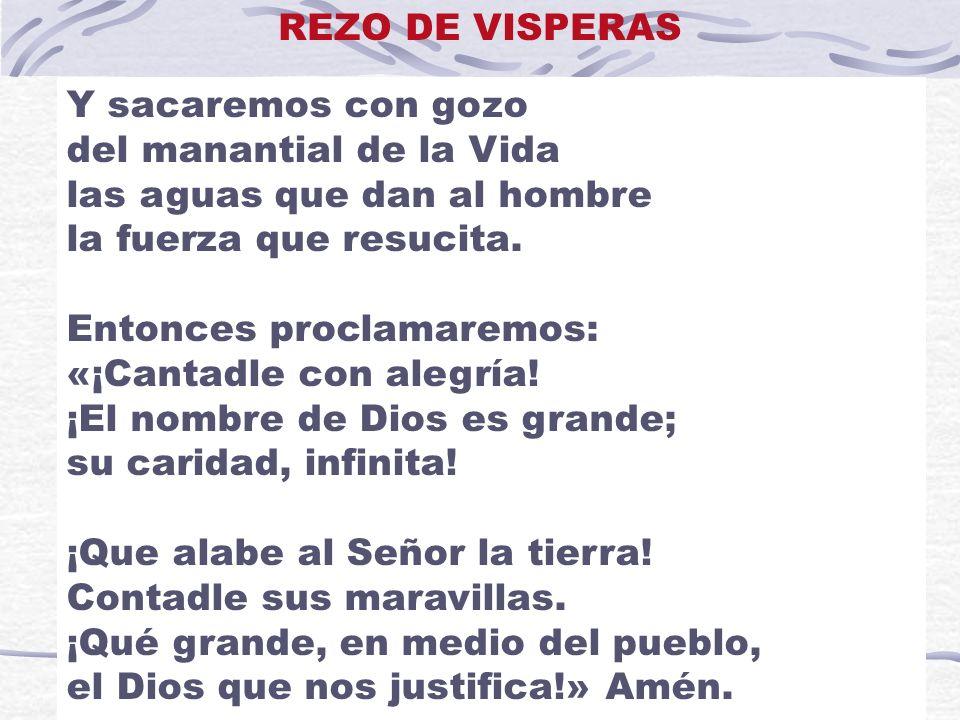 REZO DE VISPERAS