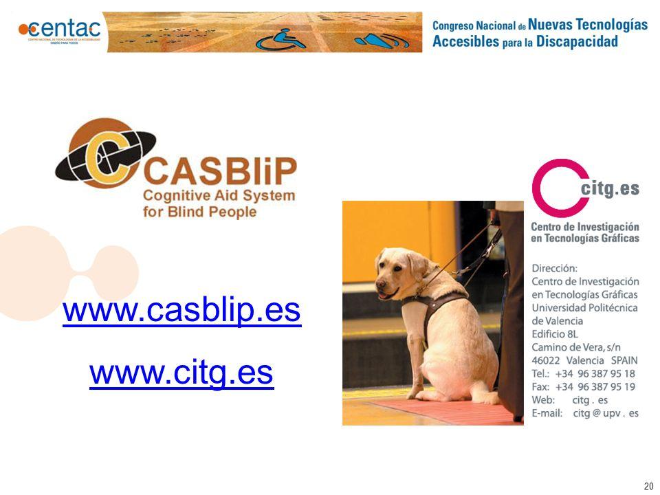 www.casblip.es www.citg.es 20