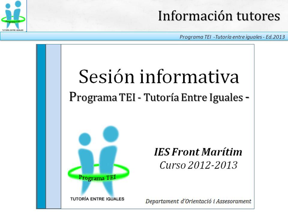Información tutores