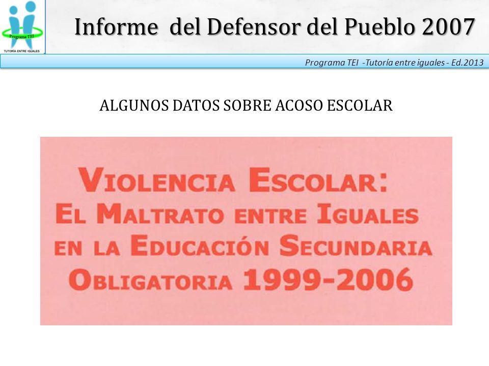 Informe del Defensor del Pueblo 2007