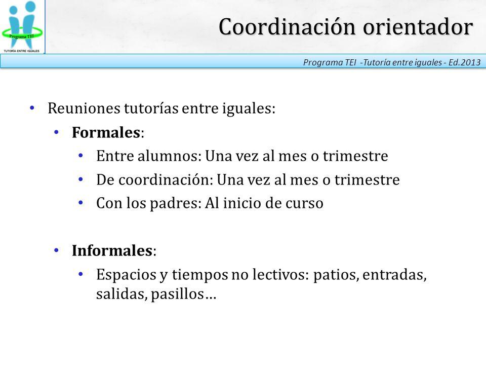 Coordinación orientador
