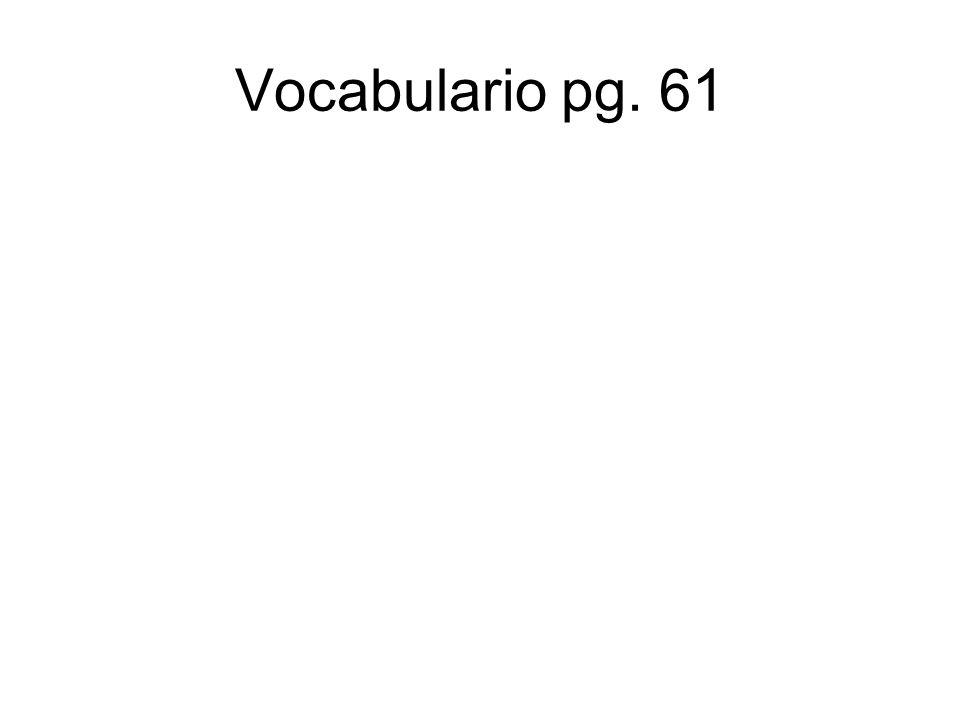 Vocabulario pg. 61