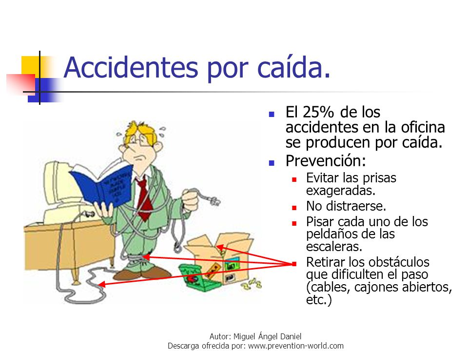 Prevenci n de riesgos en oficinas ppt descargar for Riesgos laborales en oficinas