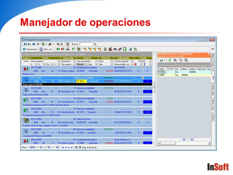 Manejador de operaciones