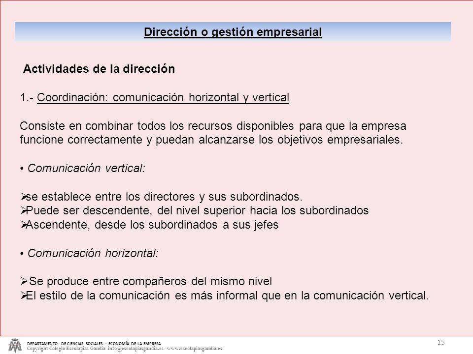 Dirección o gestión empresarial