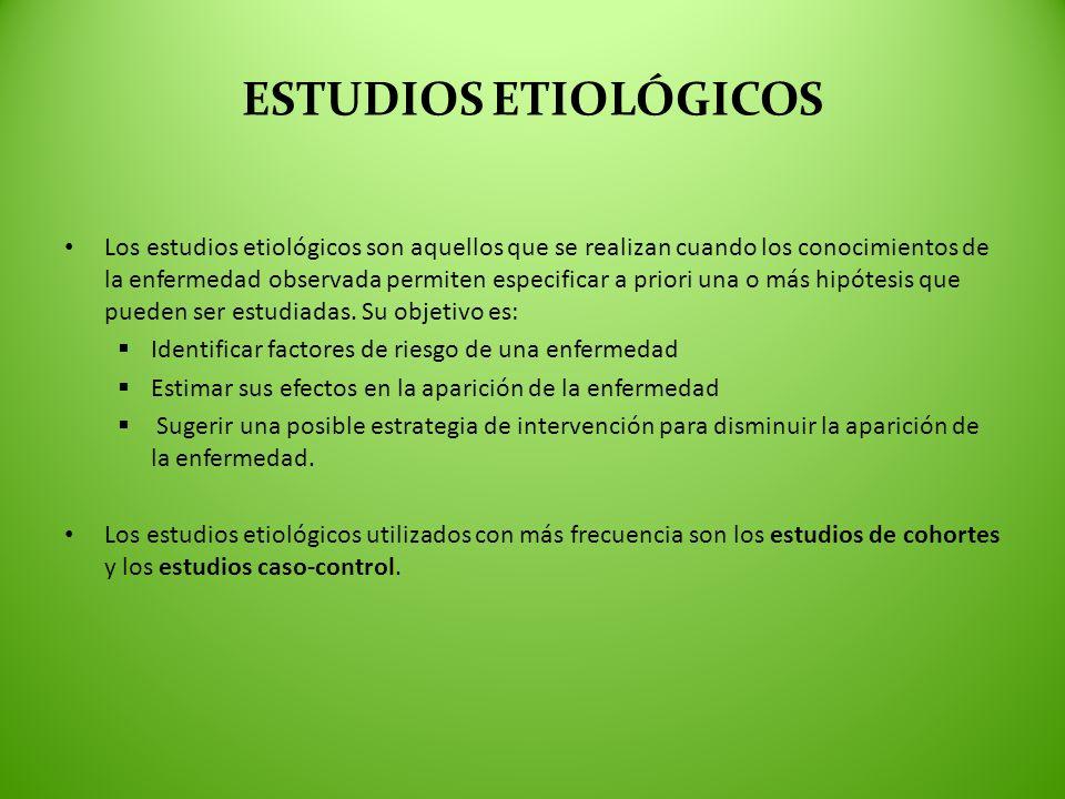 ESTUDIOS ETIOLÓGICOS