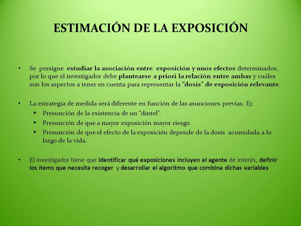 ESTIMACIÓN DE LA EXPOSICIÓN
