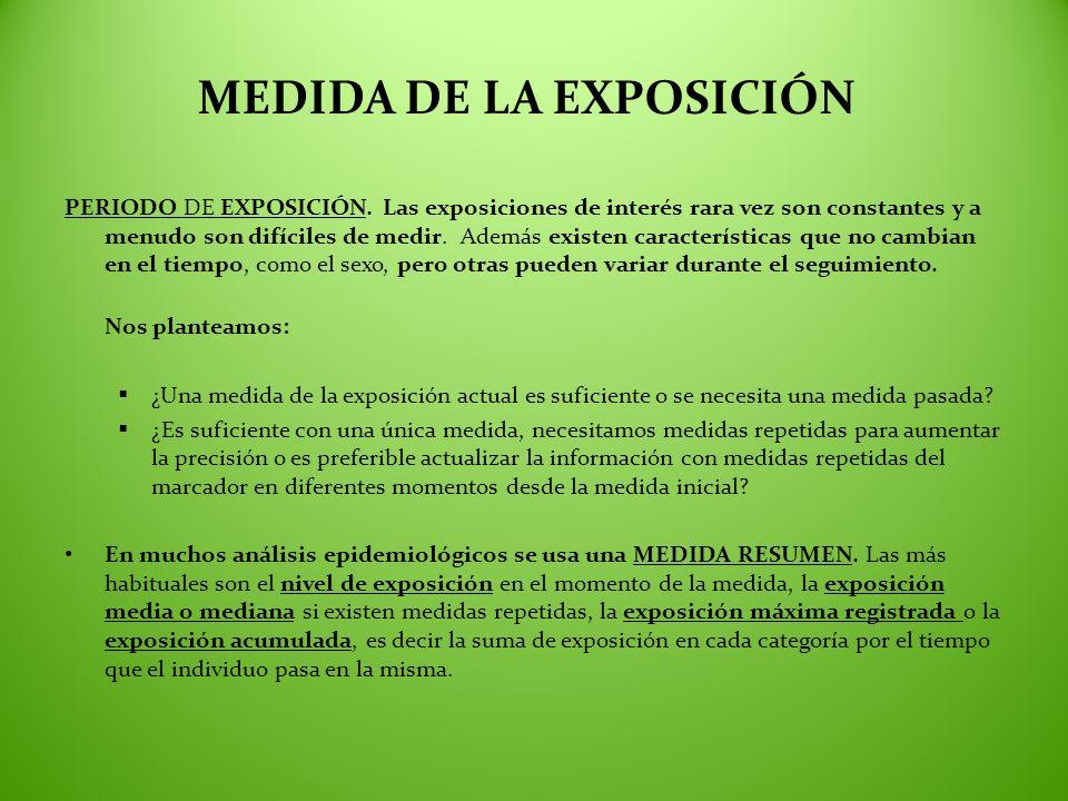 MEDIDA DE LA EXPOSICIÓN