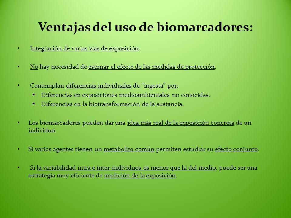 Ventajas del uso de biomarcadores: