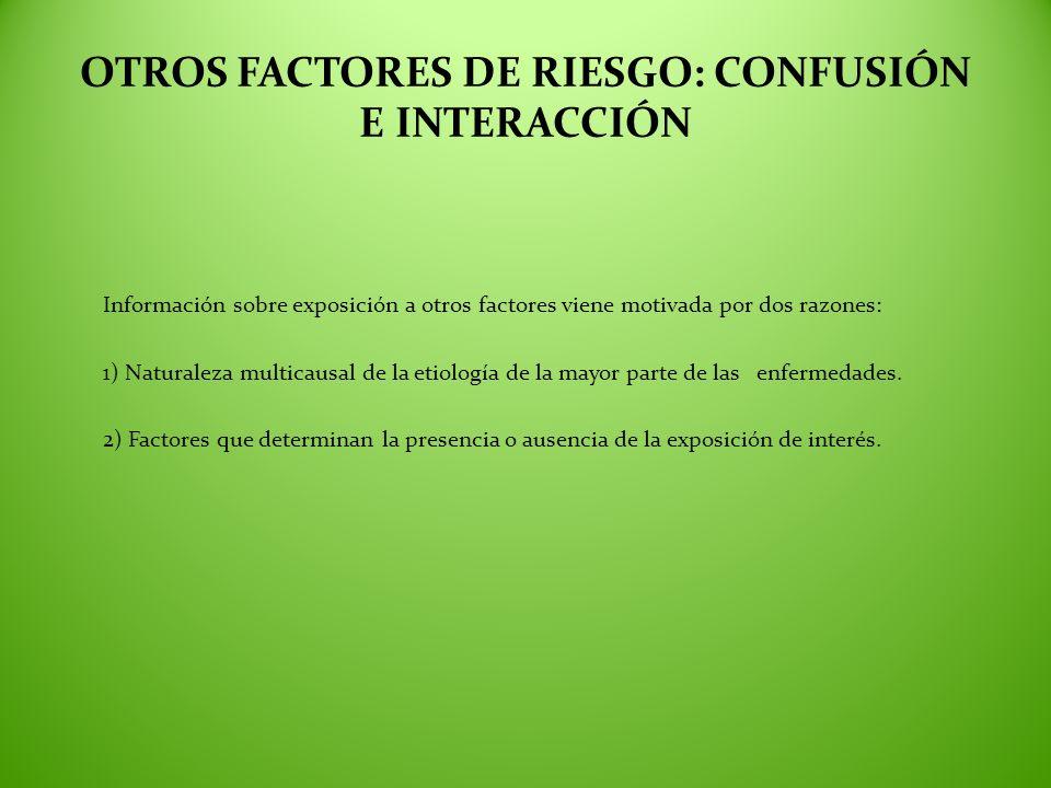 OTROS FACTORES DE RIESGO: CONFUSIÓN E INTERACCIÓN