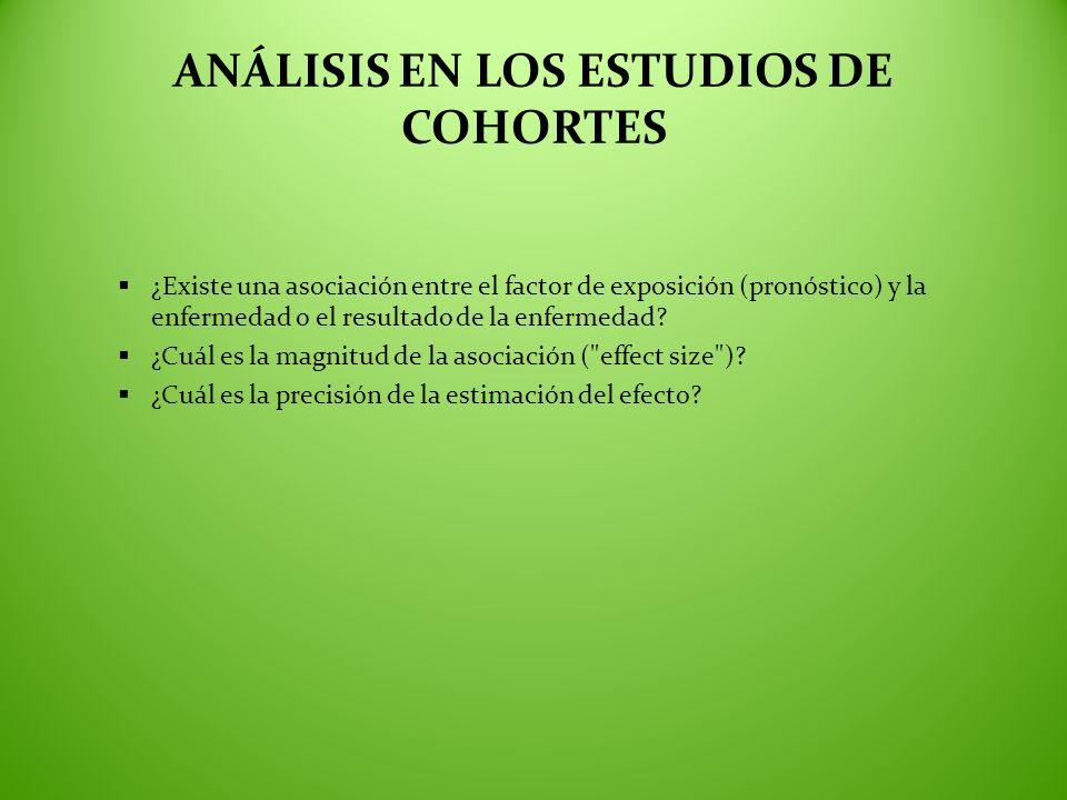 ANÁLISIS EN LOS ESTUDIOS DE COHORTES