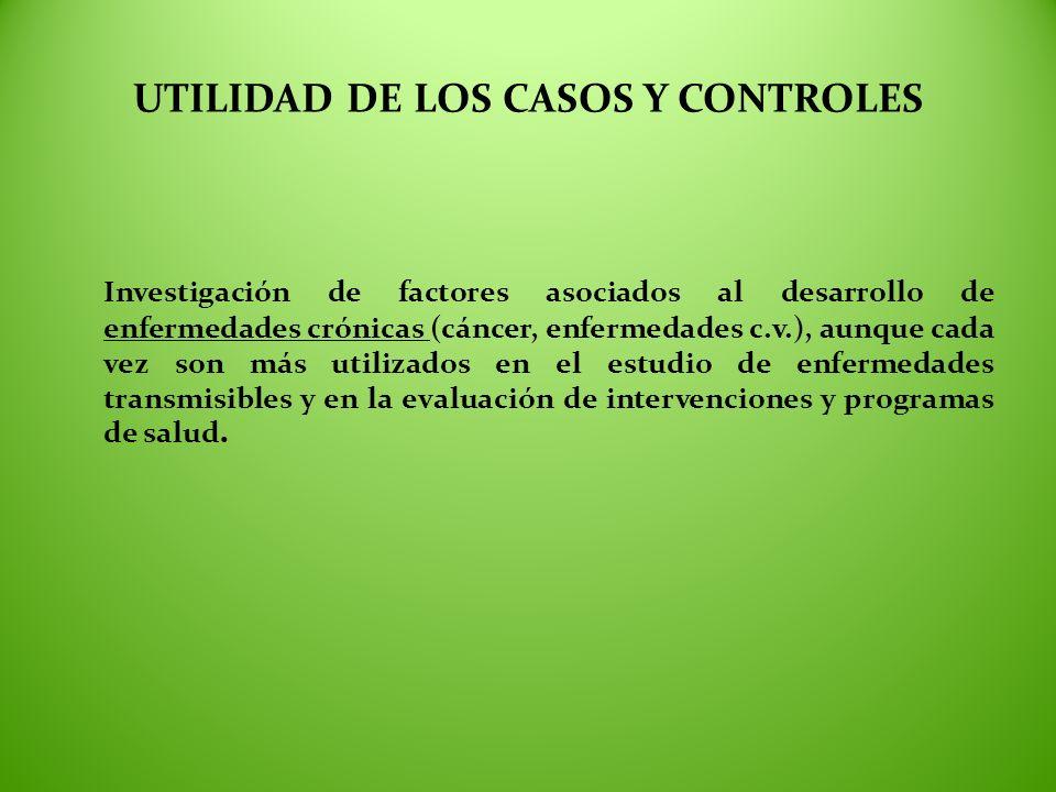 UTILIDAD DE LOS CASOS Y CONTROLES