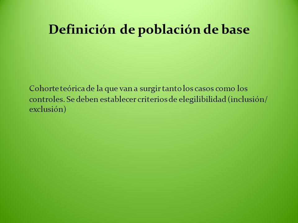 Definición de población de base