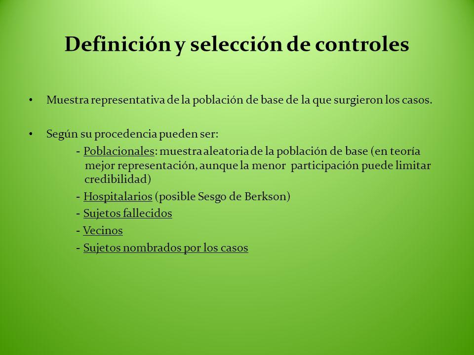 Definición y selección de controles
