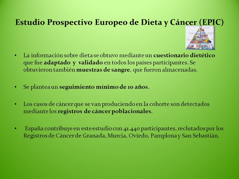 Estudio Prospectivo Europeo de Dieta y Cáncer (EPIC)