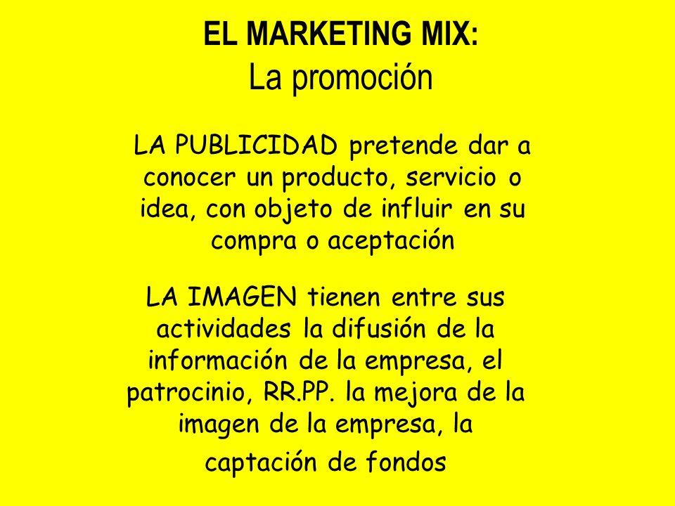 La promoción EL MARKETING MIX: