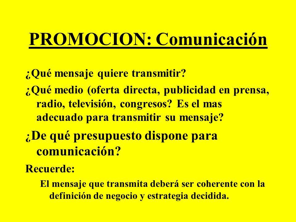 PROMOCION: Comunicación