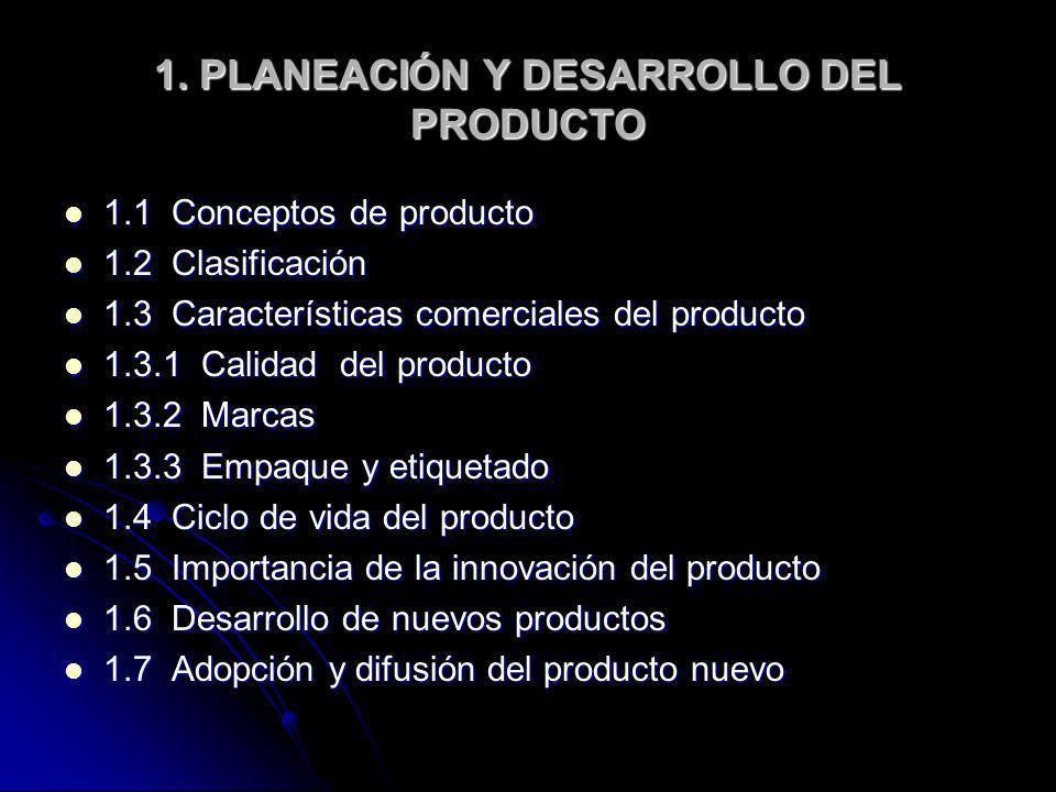 1. PLANEACIÓN Y DESARROLLO DEL PRODUCTO