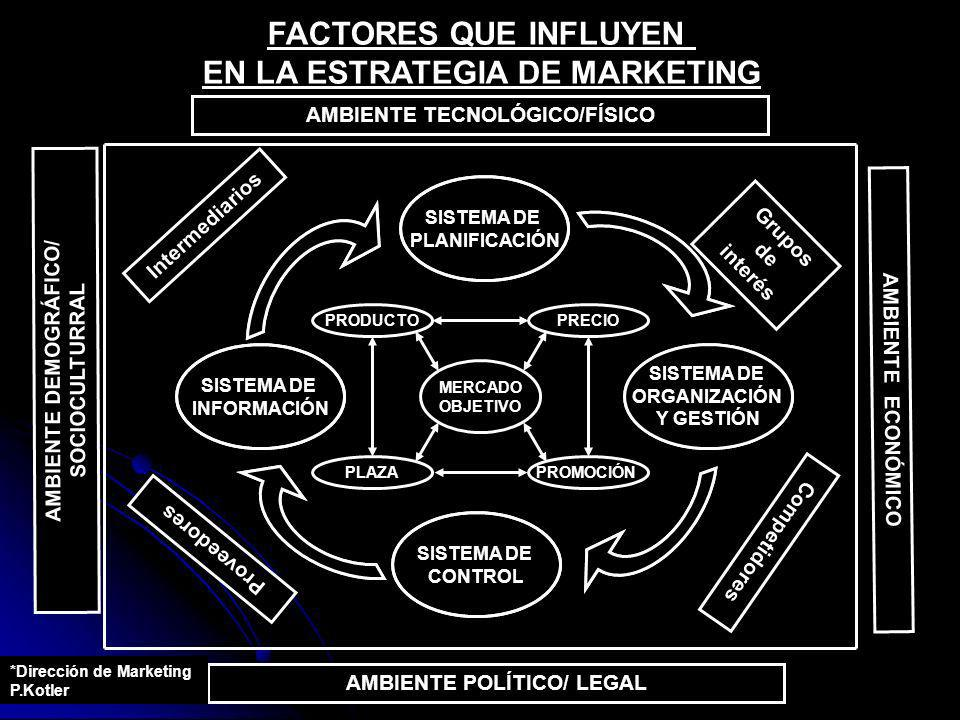 FACTORES QUE INFLUYEN EN LA ESTRATEGIA DE MARKETING