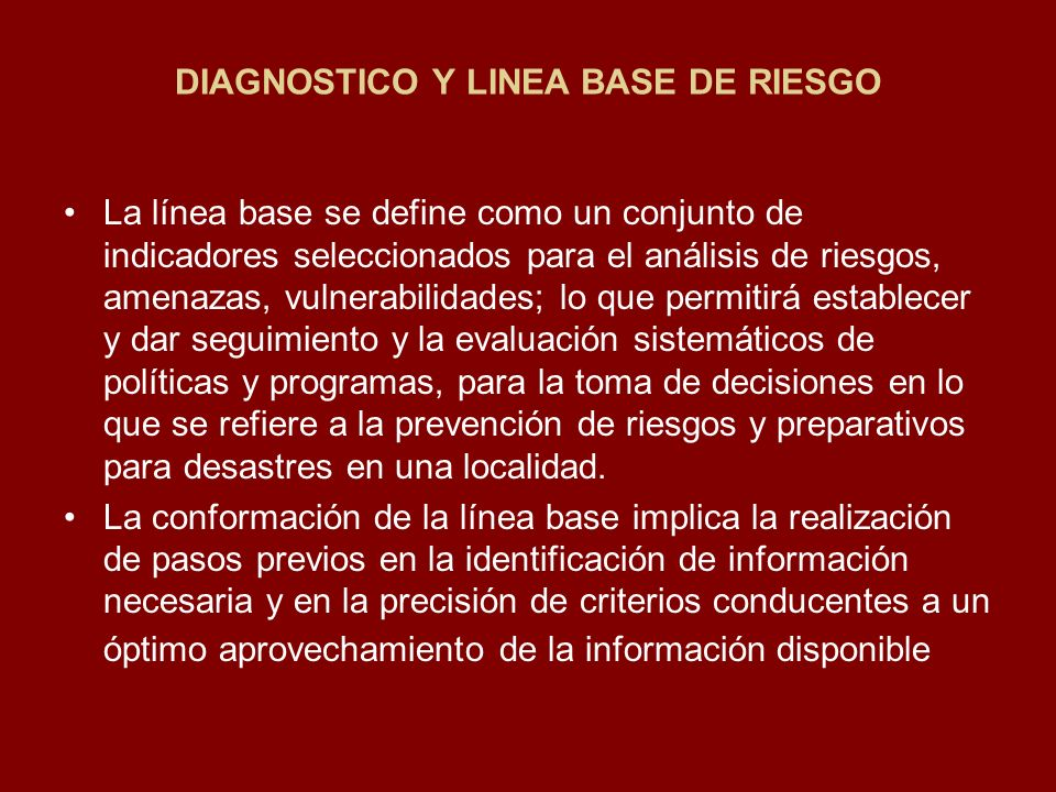 DIAGNOSTICO Y LINEA BASE DE RIESGO