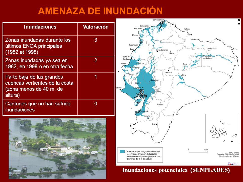Inundaciones potenciales (SENPLADES)