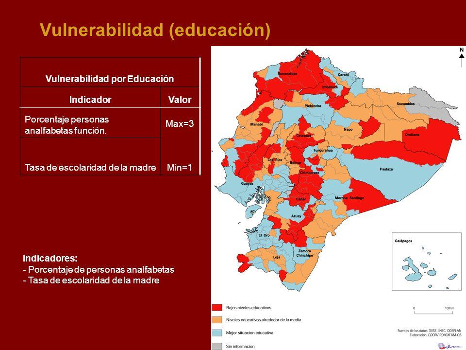 Vulnerabilidad por Educación