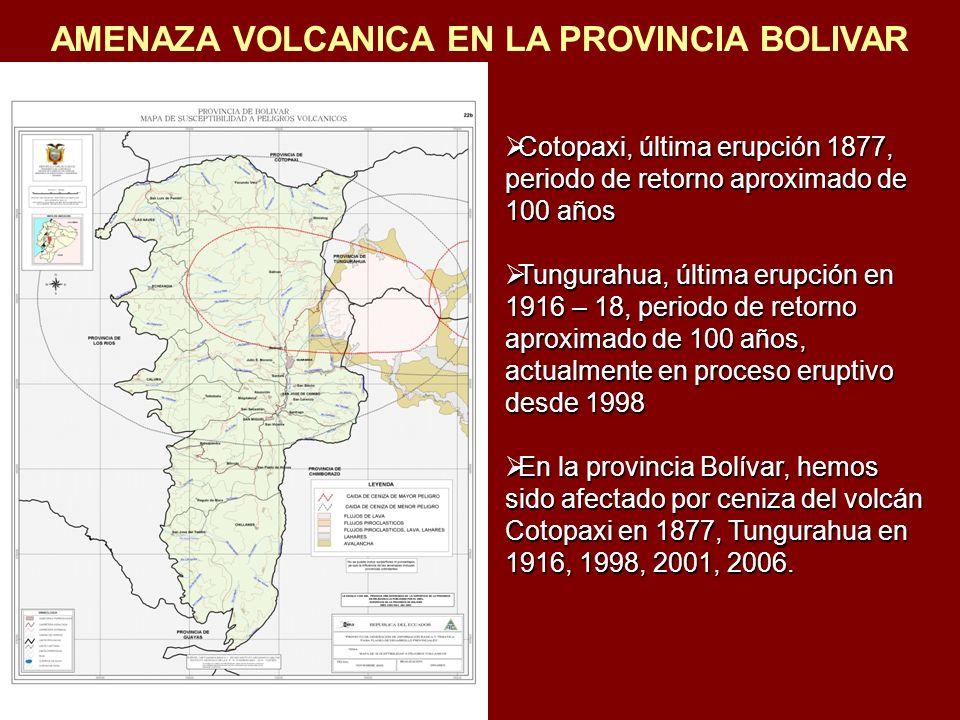 AMENAZA VOLCANICA EN LA PROVINCIA BOLIVAR