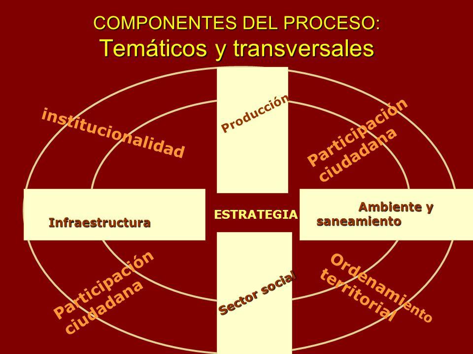 COMPONENTES DEL PROCESO: Temáticos y transversales