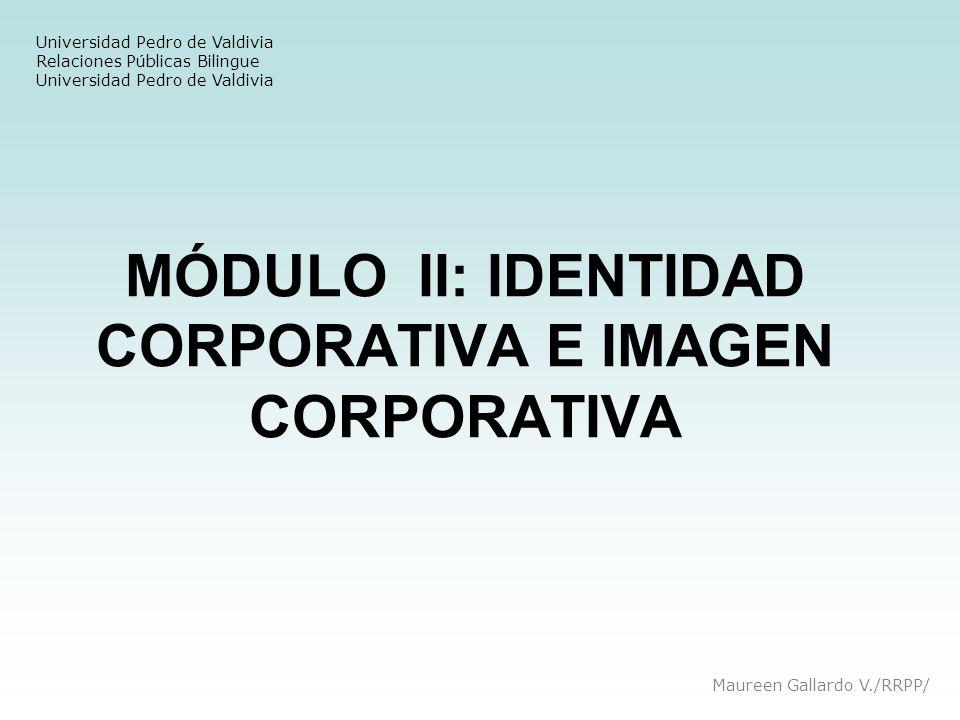 MÓDULO II: IDENTIDAD CORPORATIVA E IMAGEN CORPORATIVA