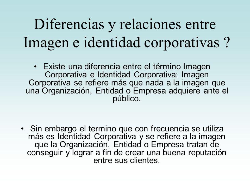 Diferencias y relaciones entre Imagen e identidad corporativas