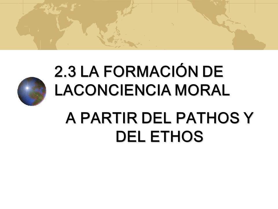 A PARTIR DEL PATHOS Y DEL ETHOS