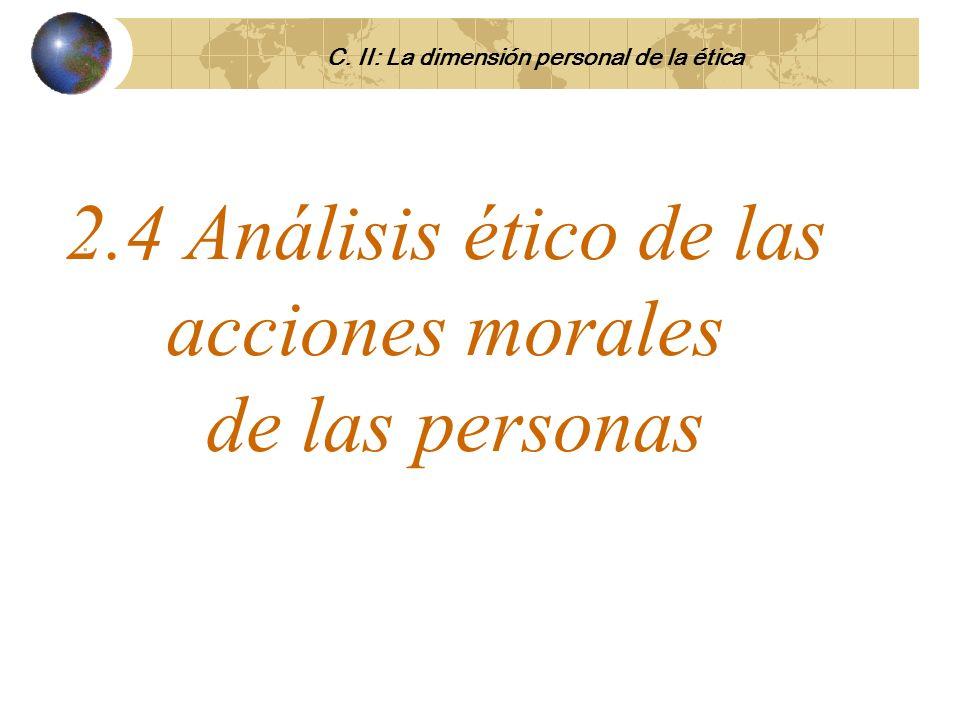 2.4 Análisis ético de las acciones morales de las personas