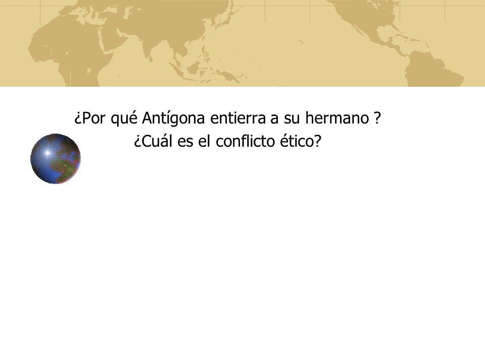 ¿Por qué Antígona entierra a su hermano ¿Cuál es el conflicto ético