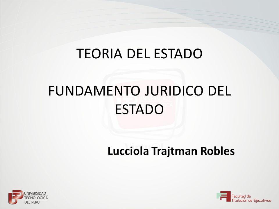 TEORIA DEL ESTADO FUNDAMENTO JURIDICO DEL ESTADO