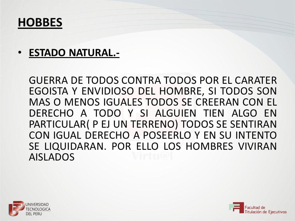 HOBBES ESTADO NATURAL.-