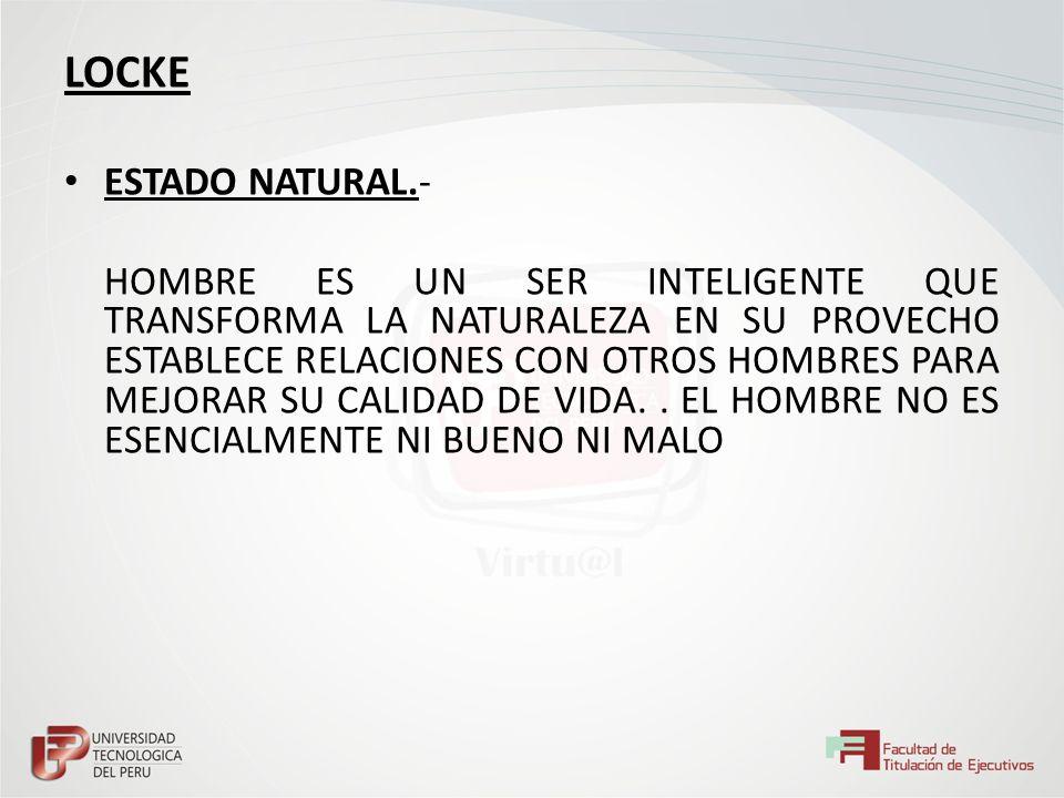 LOCKE ESTADO NATURAL.-