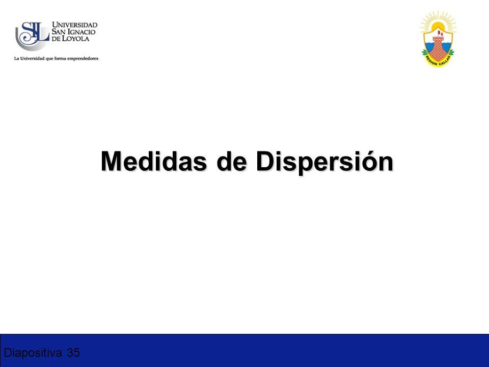1-2 Medidas de Dispersión