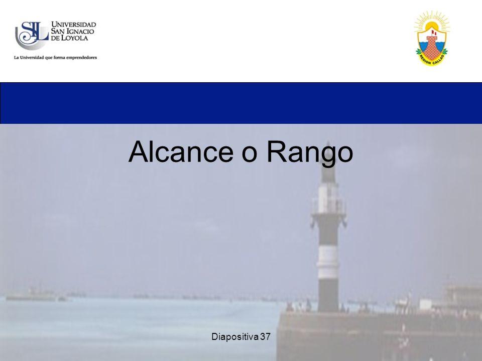 Alcance o Rango