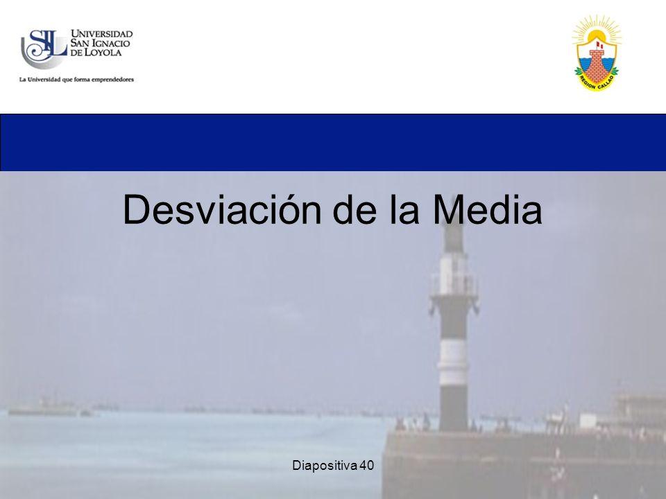 Desviación de la Media