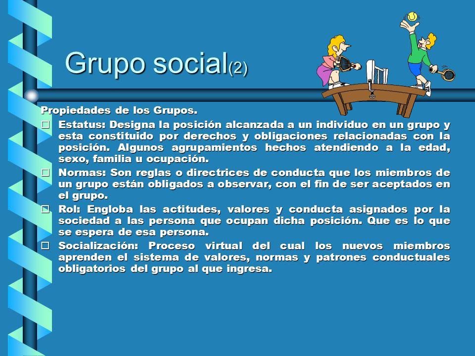 Grupo social(2) Propiedades de los Grupos.
