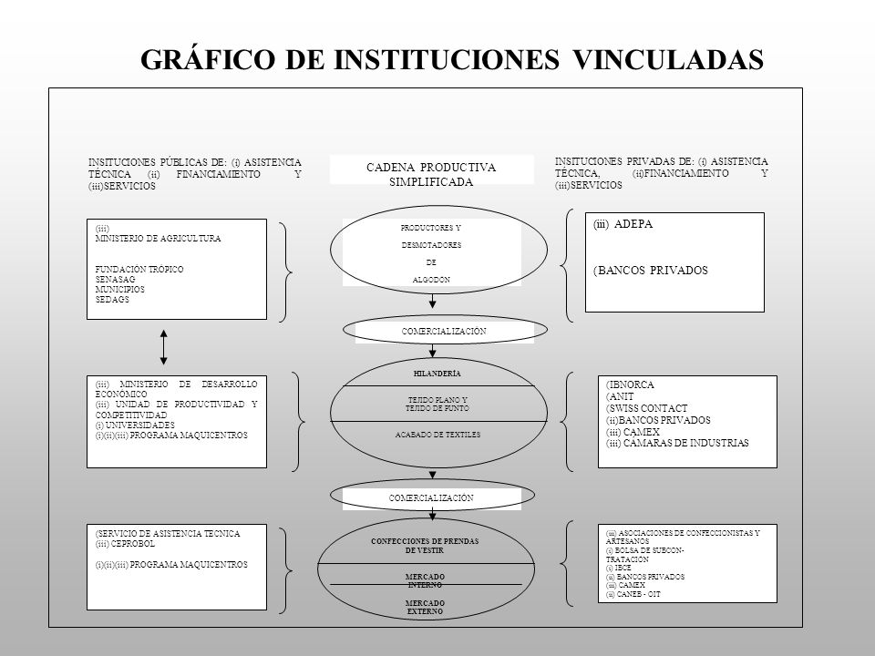 GRÁFICO DE INSTITUCIONES VINCULADAS