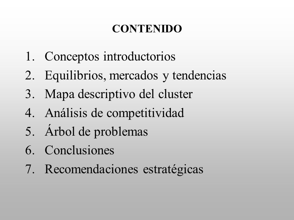 Conceptos introductorios Equilibrios, mercados y tendencias